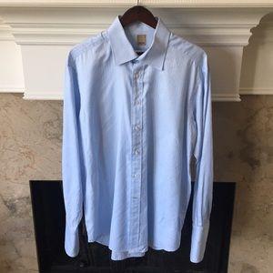 Men's IKE BEHAR Baby Blue Striped Shirt